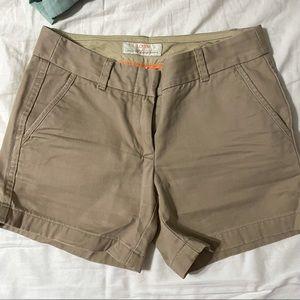 J crew linen chino shorts 100% cotton jcrew khaki